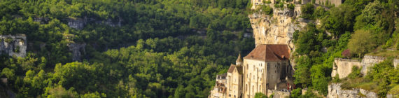 Rocamadour - one of the most beautiful and most visited medieval villages in France. It is situated in the Lot department in south-western France